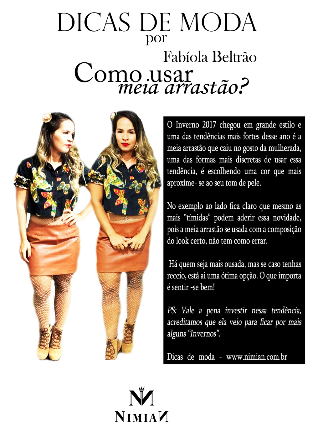 Fashion - Meia arrastão